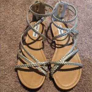 8ed1acb1b15 Steve Madden Shoes - Steve Madden Gold Kammi Gladiator Sandals